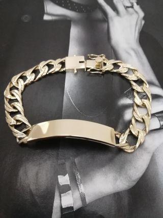 Esclava de oro de 18 kts maciza