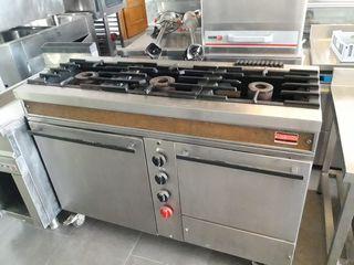 cocina de 3 fuegos y horno