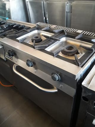 cocina industrial de dos fuegos mas horno