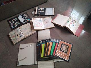 colección de sellos antiguos