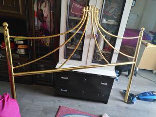 cabecero vintage color oro
