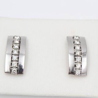 Pendientes de oro blanco con diamantes E329479