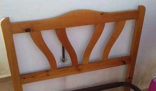 Cabecera de madera , cabecera