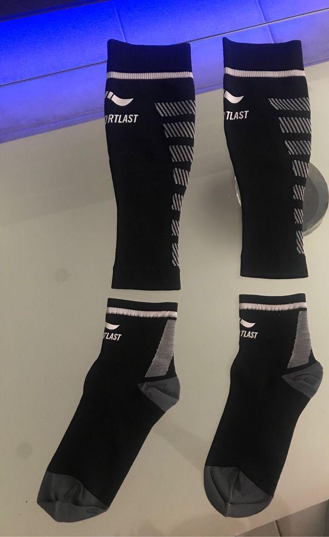 125dec199 Pantorrilleras + calcetines de compresion de segunda mano por 25 ...