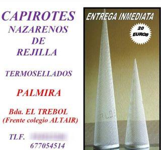 CAPIROTES DE NAZARENOS DE REJILLAS