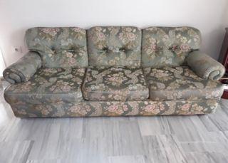 Conjunto de sofá tres plazas y dos sillones