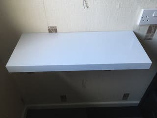 60cm Floating Shelf - White