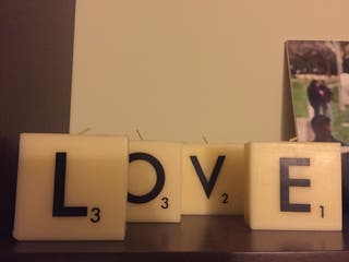 Velas LOVE