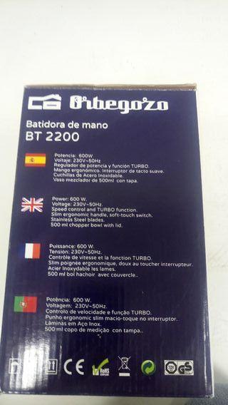Batidora Orbegozo, modelo BT2200