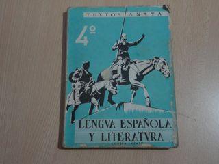 Libro de texto antiguo-Lengua española y literatur