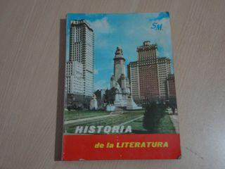 Libro de texto antiguo - Historia de la Literatura
