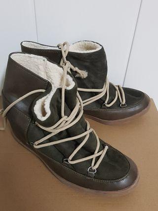 bota esquimal verde