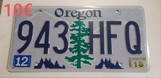 Oregon, Matriculas Americanas