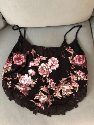 Top de Zara estampado flores M