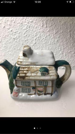 Decoracion cafetera porcelana