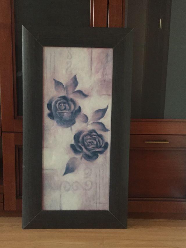 Cuadro flor con marco.