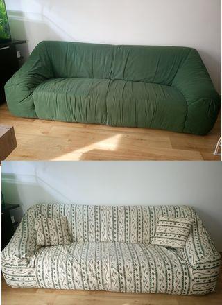 sofá echo a mano 3 plazas