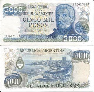 ARGENTINA BILLETE 5000 PESOS P 305b