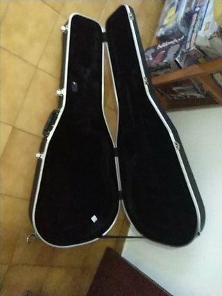 Guitarra Clásica verde y Estuche con llave