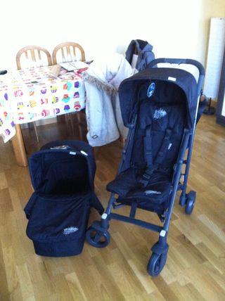 Capazo + silla carrito bebe