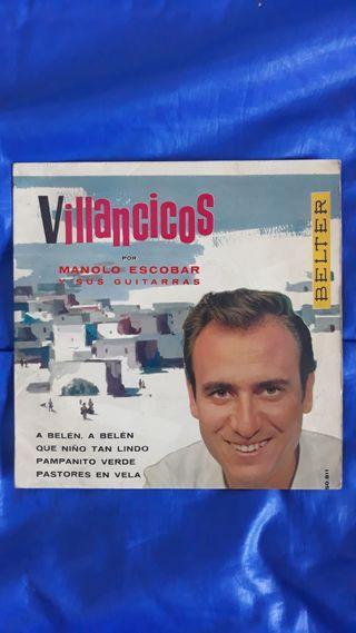 DISCO VINILO Manolo Escobar Villancicos