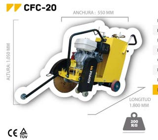 cortadora de asfalto kompak