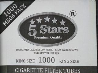 Cajón con 12000 tubos cigarrillos King Size
