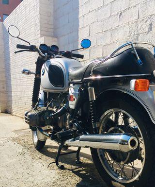 Moto bmw clásica R60/6 1975
