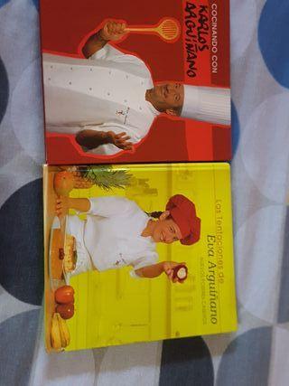 Libros auténticos de Carlos Arguiñano y hermana