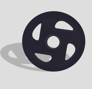 Disco Olímpico 4 Agarres (Casquillo acero) NUEVO