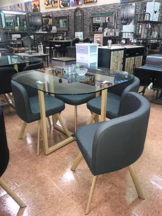 Mesa teca+4 sillas