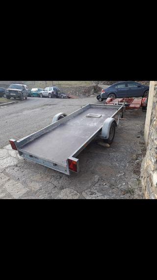 remolque plataforma basculante 750kg 2 quads