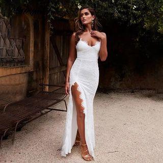 Vestido novia/fiesta encaje blanco NUEVO
