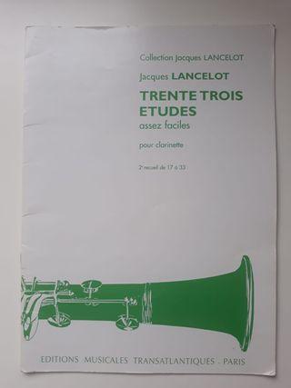 33 ESTUDIOS - JACQUES LANCELOT (CLARINETE) 2ºPARTE