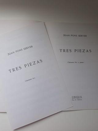 """""""TRES PIEZAS"""" CONCIERTO PARA CLARINETE - JUAN PONS"""