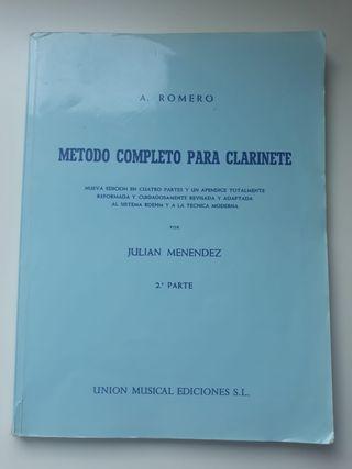 MÉTODO COMPLETO PARA CLARINETE - A.ROMERO 2º PARTE