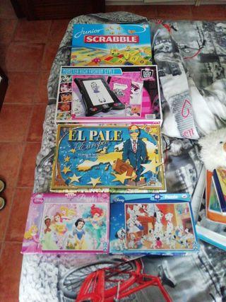 lote de puzzles y juegos de mesa