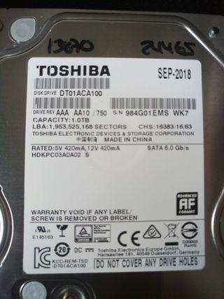 Disco duro 1TB toshiba sata DT01ACA100