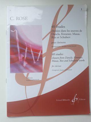 C. ROSE - 40 STUDIES FOR CLARINET