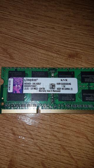 Memoria para portátil 4 gb