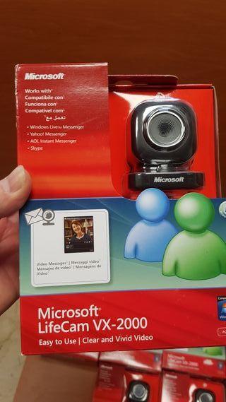 web cam y cascos ORIGINALES Microsoft