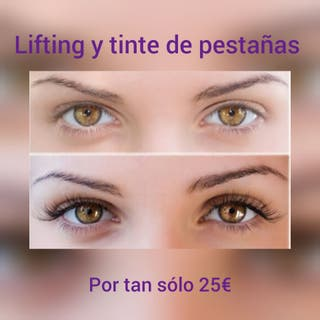 lifting y tinte de pestañas