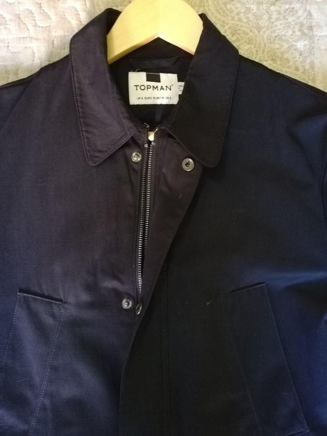 Gabardina azul marino