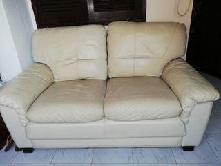 sofá piel 2 plazas