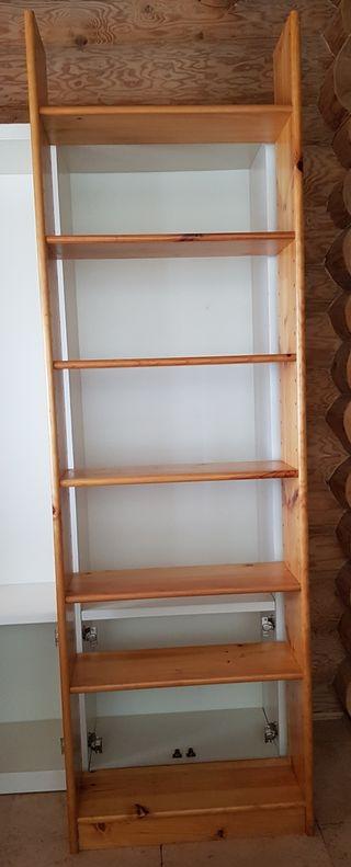 Libreria pino barnizada