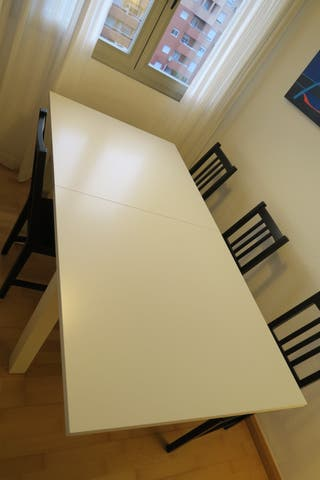 Mesa Extensible Comedor Blanca Impecable