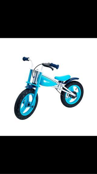 Bicicleta azul s/pedales Evolutiva Alcala Henares