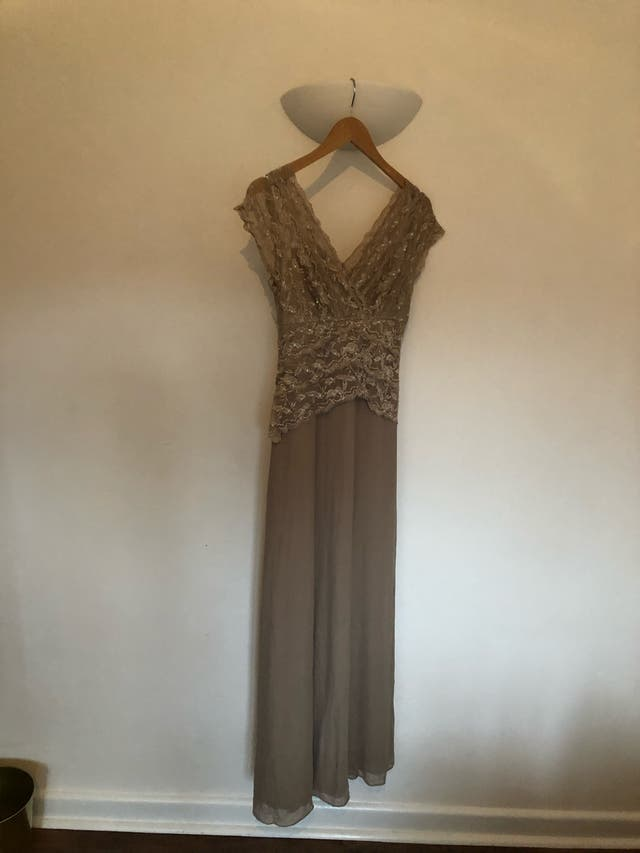 Vintage style maxi evening gown