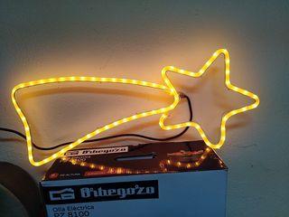 Estrella de Navidad + tubo de luces
