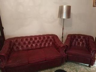 conjunto vintage: 2 sillones 1 sofa cama escai.sky